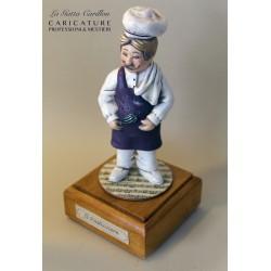 caricatura infermiere carillon da collezione PASTICCIERE, regalo laurea professionisti, hobbisti, laurea