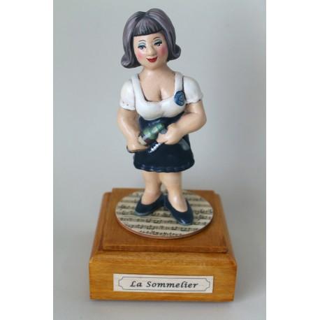 carillon caricatura da collezione SOMMELIER DONNA, idea regalo laurea collezione studio, laurea, hobbista
