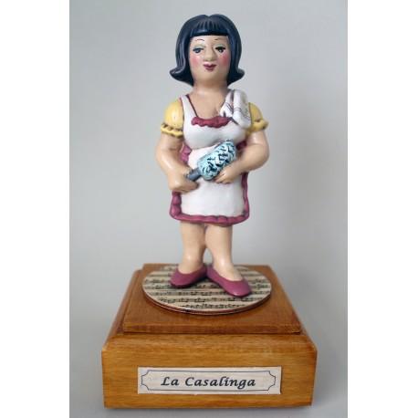 carillon caricatura da collezione CASALINGA, idea regalo laurea per professionisti o hobbisti