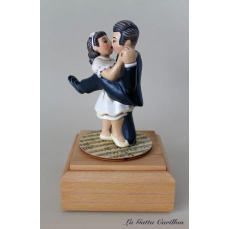 SPOSI, carillon legno - topper per torte
