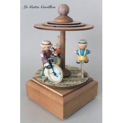 GIOSTRINA BICICLETTE com BIMBI carillon bimba bimbo, regalo nascita battesimo