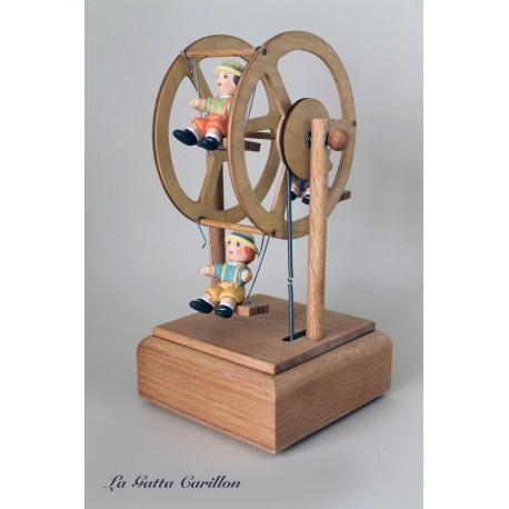 GIOSTRINA RUOTA PANORAMICA BIMBA com BIMBI carillon bimba bimbo, regalo nascita battesimo