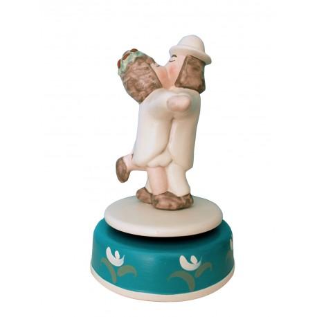 carillon bomboniera o regalo o cake topper, matrimonio anniversario fidanzamento per innamorati. Artigianale made in Italy