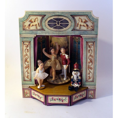 carillon ballerine da collezione in legno lo schiaccianoci
