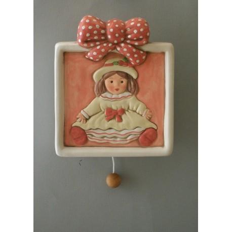 carillon bimba bambola, per bambina e neonati da appendere, regalo battesimo e nascita artigianale made in italy