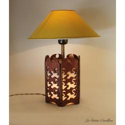 lampada carillon cielo, Esher e i cigni. in legno da collezione artigianale