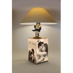 carillon lampada surrealista amanti. Regalo matrimonio, anniversario, inauguraizone. Artigianale, made in Italy