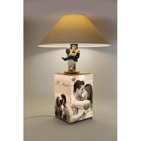 carillon lampada innamorati. Regalo matrimonio, anniversario, inauguraizone. Artigianale, made in Italy