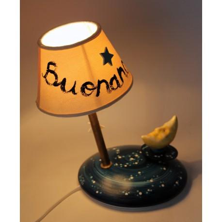 carillon lampada buona notte e luna, Notturno Chopin, Regalo nascita, compleanno. Artigianale, made in Italy
