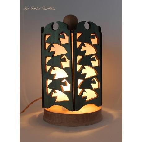 lampada carillon mare, Esher e i pesci. in legno da collezione artigianale