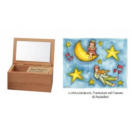 carillon portagioie personalizzato . Cofanetto scatola in legno artigianale made in Italy