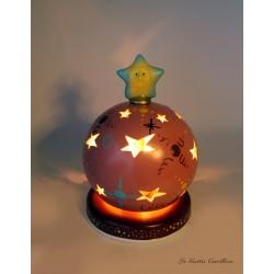 carillon bimba, per bambini neonati conninna nanna e lampada. Regalo per battesimo o nascita. Sfera magica luminoso. Artigianale
