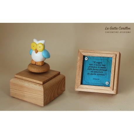 carillon da collezione con GUFO a aforisma regalo PER BAMBINI E ADULTI da collezione e personalizzabile