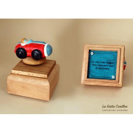 carillon da collezione con MACCHINA a aforisma regalo PER BAMBINI E ADULTI da collezione e personalizzabile