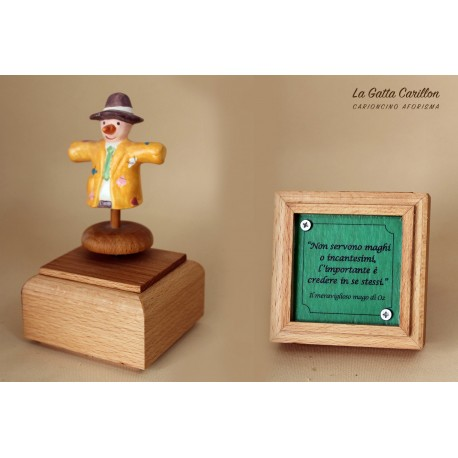 carillon da collezione con SPAVENTAPASSERI a aforisma regalo PER BAMBINI E ADULTI da collezione e personalizzabile