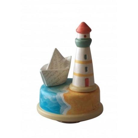 carillon da collezione mare, barca e faro