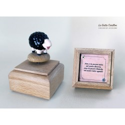 PECORA NERA AFORISMA, carioncino legno
