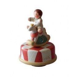 carillon per bambini e neonati, carillon bomboniere battesimo cavallino
