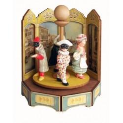 carillon da collezione giostra legno MASCHERE IN PIAZZA