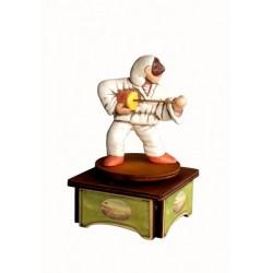 carillon da collezione legno maschere teatro PULCINELLA E CACCAVELLA