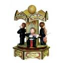 MUSICISTI IN GIOSTRA carillon legno medio