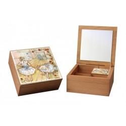 carillon portagioie . Cofanetto scatola in legno artigianale made in Italy
