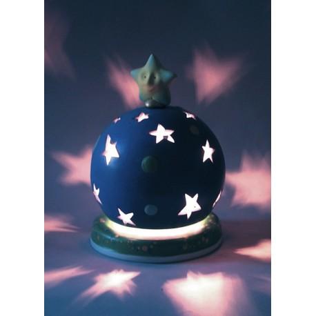 carillon bimbo, per bambini neonati con ninna nanna e lampada. Regalo per battesimo o nascita. Sfera magica luminoso. Artigianal