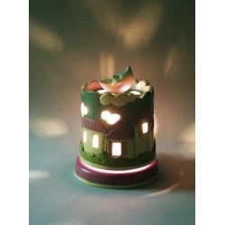 carillon lampada bimba e bimbo, per bambini neonati. Regalo per battesimo o nascita. Notturno. Artigianale made in Italy