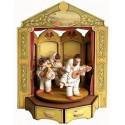 PULCINELLA A TEATRO carillon legno grande