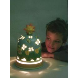 carillon lampada bimba, per bambini neonati. Regalo per battesimo o nascita. Primavera. Artigianale made in Italy