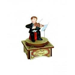 carillon musicista di VIOLINO, carillon da collezione