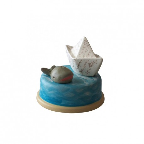 carillon da collezione mare barca ebalena