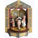 MASCHERE IN TEATRO carillon legno grande