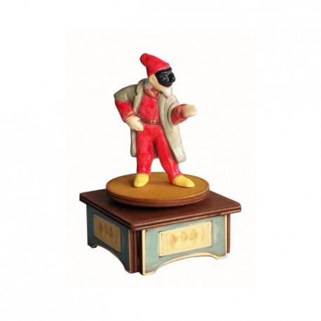 carillon da collezione commedia maschere teatro. in legno e ceramica. PANTALONE