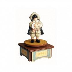 carillon da collezione commedia maschere teatro. in legno e ceramica. BALANZONE